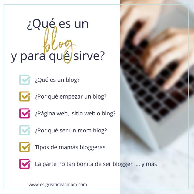 Imagen con la tabla de contenidos del blog post qué es un blog y para que sirve