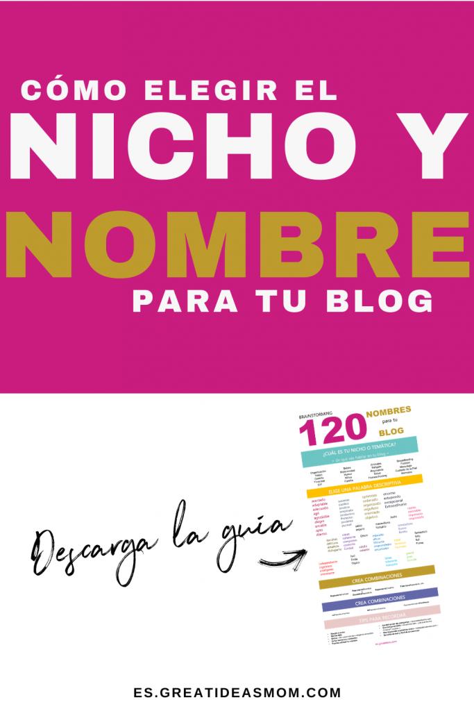 Imagen con el título del blog post - cómo elegir el nicho y nombre para tu blog