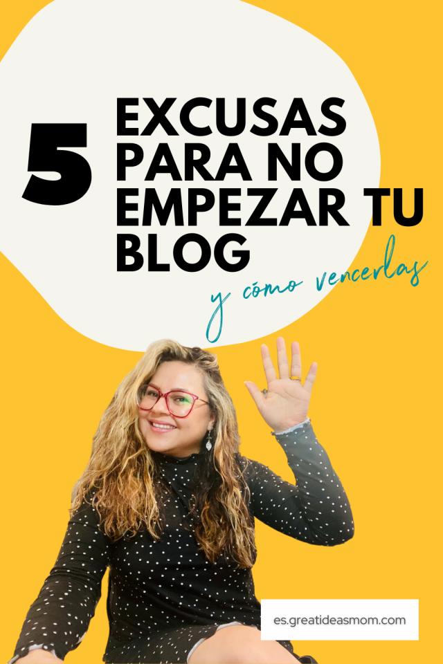 Excusas para no empezar un blog