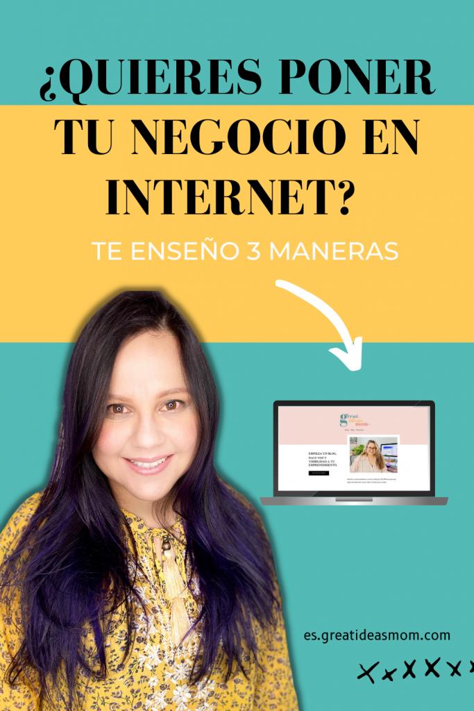Tener tu negocio en internet